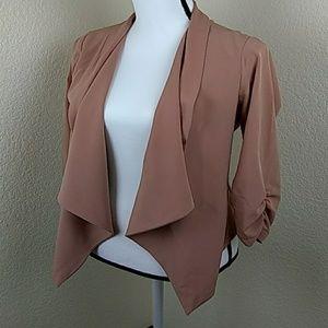 Blush pink soft blazer